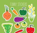 有趣的蔬菜贴纸