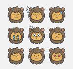 可爱狮子表情