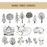 涂鸦森林手绘元素