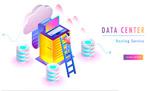 数据中心概念插画