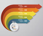 箭头信息图表