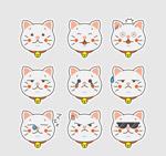白色猫咪表情头像