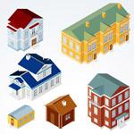 立体房屋设计矢量