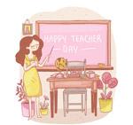 课堂上的女老师