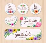花朵婚礼标签