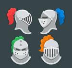 银色骑士头盔
