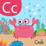 可爱卡通螃蟹