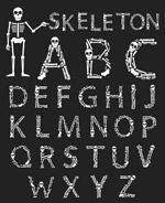 手工万圣节字母