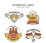 彩绘啤酒节标签