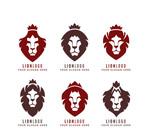彩色王冠狮子标志