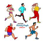 跑步健身人物
