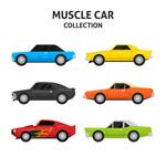 6款彩色肌肉车