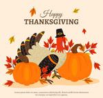 感恩节火鸡和南瓜