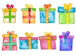 手绘效果的礼物盒