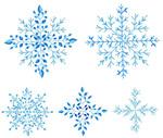 冬日季节雪花