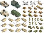 军用武器主题矢量