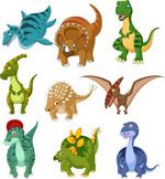 卡通恐龙矢量