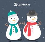 卡通微笑雪人