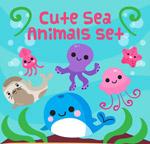 可爱卡通海洋动物