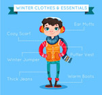 冬季着装男子