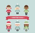 可爱冬季儿童