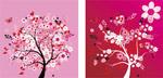 粉红色的树无框画
