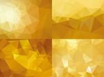 金色低多�形背景