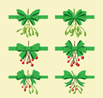圣诞植物蝴蝶结