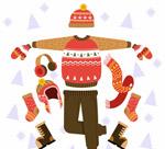 手绘冬季服饰套装
