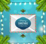 圣诞节祝福信封