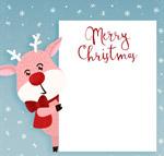 圣诞驯鹿装饰纸板