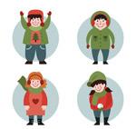 冬季微笑儿童