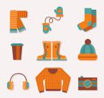 橙色冬季服饰