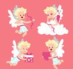可爱金发天使
