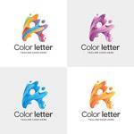 3D字母A标志