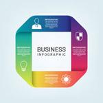五颜六色商务图表