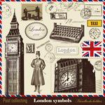 伦敦元素邮票戳印
