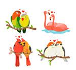 彩色动物情侣