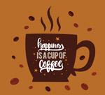 咖啡剪影矢量