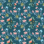 深蓝花卉背景