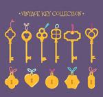 金色锁头和钥匙