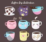 可爱咖啡杯矢量