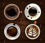 精美咖啡俯视图