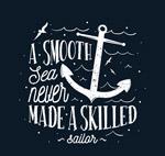 手绘船锚航海隽语