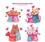 情人节动物情侣