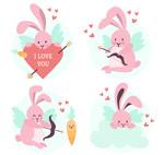 粉色情人节兔子