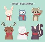 冬季森林动物