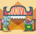 杂耍大象和小丑