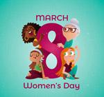妇女节4个女子
