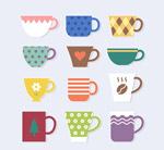 彩色咖啡贴纸